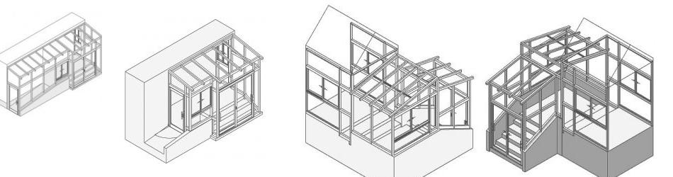 風除室3D図面